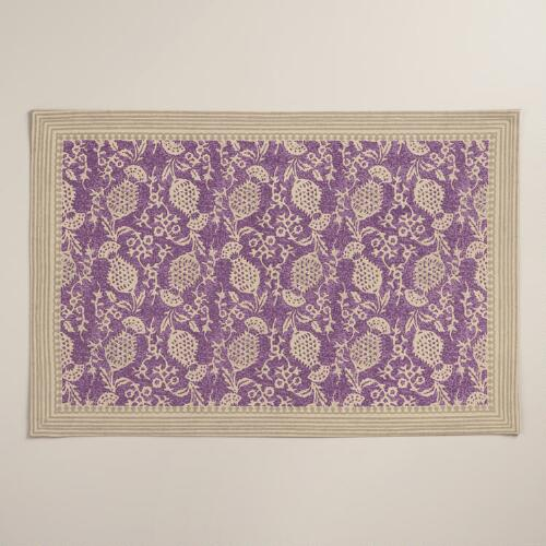 Purple Thistle Placemats, Set of 4