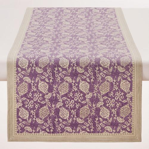 Purple Thistle Table Runner