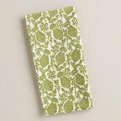 Green Thistle Napkins, Set of 4