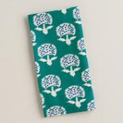 Teal Floral Remy Napkins, Set of 4