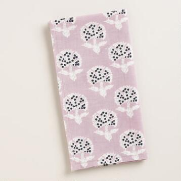 Lavender Floral Remy Napkins, Set of 4