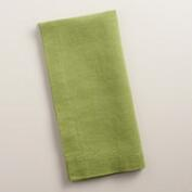 Green 100% Linen Napkins, Set of 4