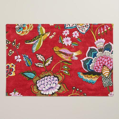 Floral Bird Natasha Placemats, Set of 4