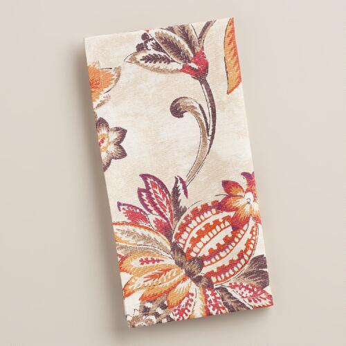 Floral Eva Napkins, Set of 4