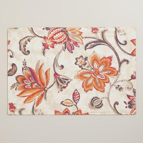 Floral Eva Placemats, Set of 4