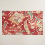 Red Floral Genevieve Placemats, Set of 4