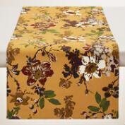 Golden Yellow Floral Grace Table Runner