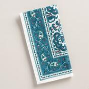 Indigo Blue Floral Baroque Napkins, Set of 4