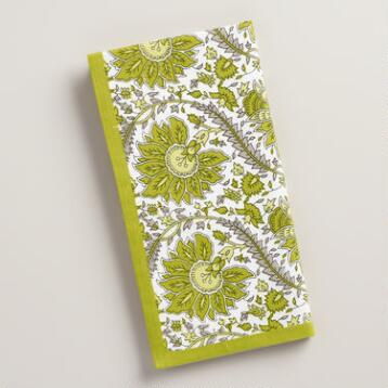 Green Helena Napkins, Set of 4