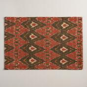 Black and Red Woven Ikat Placemats, Set of 4