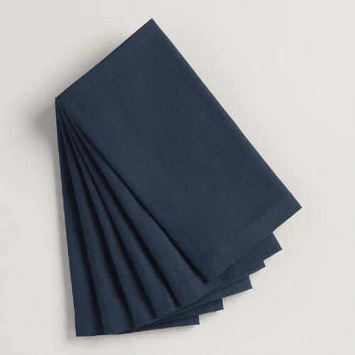 Dark Indigo Buffet Napkins, Set of 6