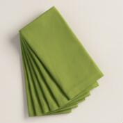 Olivine Green Buffet Napkins, Set of 6