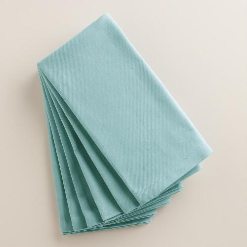 Stone Blue Buffet Napkins, Set of 6