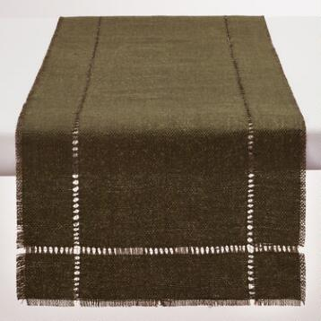 Chocolate Brown Washed Jute Table Runner