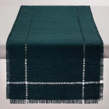 Indigo Blue Washed Jute Table Runner