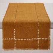 Sunflower Yellow Washed Jute Table Runner