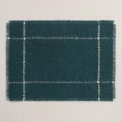 Indigo Blue Washed Jute Placemats, Set of 4