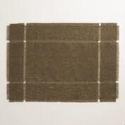 Chocolate Brown Washed Jute Placemats, Set of 4