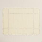 Ivory Washed Jute Placemats, Set of 4