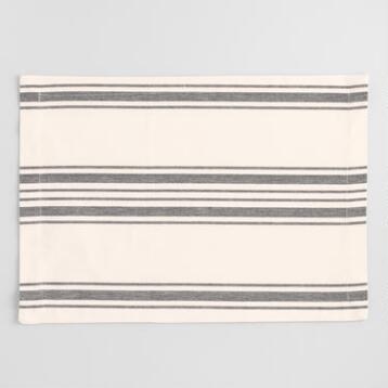 Black Villa Stripe Placemats Set of 4