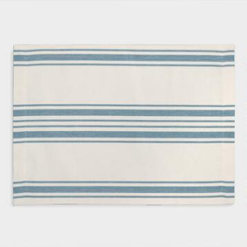 Blue Villa Stripe Placemats, Set of 4