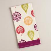 Harvest Fruit Flour Sack Kitchen Towel