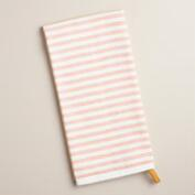 Yellow and Rust Striped Kitchen Towel