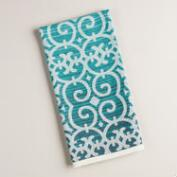 Blue Ombre Trellis Jacquard Kitchen Towel