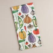 Veggie Flour Sack Kitchen Towels, Set of 2