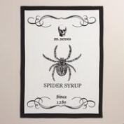 Spider Syrup Flour Sack Kitchen Towels, Set of 2