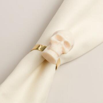 Skull Napkin Rings, Set of 4