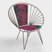 Metal Woven Chindi Chair