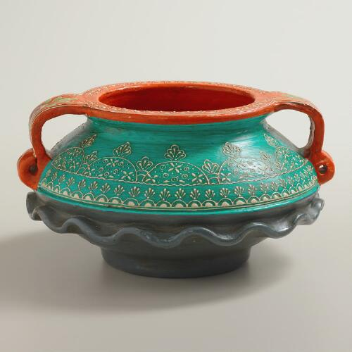 Painted Urali Terracotta Pot