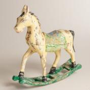 Decorative Wood Rocking Horse