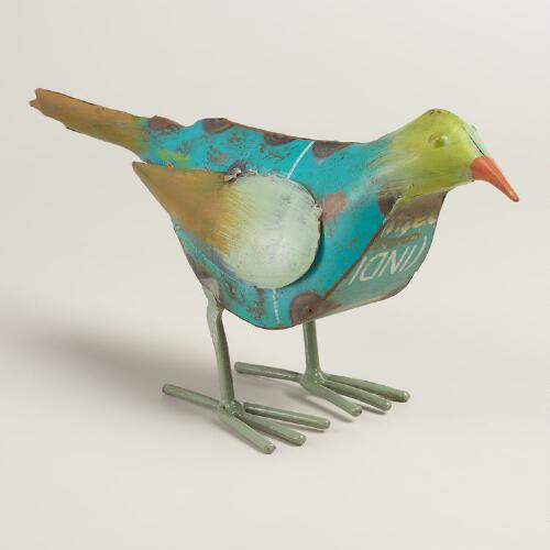 Recycled Metal Bird Figure