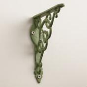 Floral Iron Shelf Bracket