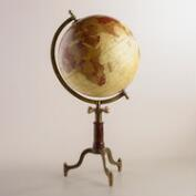 Parchment Globe on Wood Stand