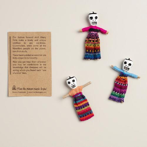Skull Worry Doll Figure