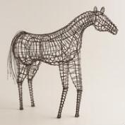Wire Standing Horse Figure