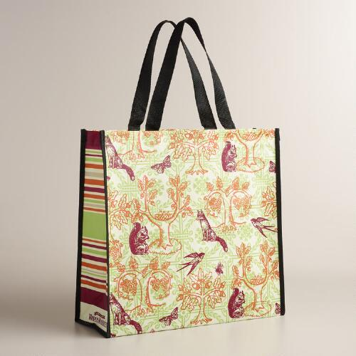Woodland Animals Tote Bags, Set of 2