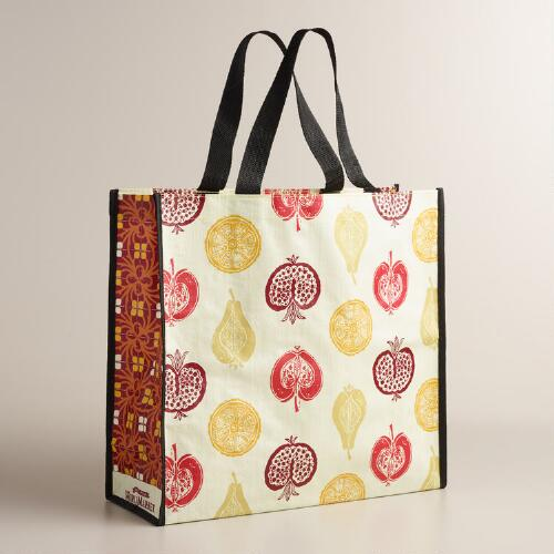Harvest Fruits Tote Bags, Set of 2