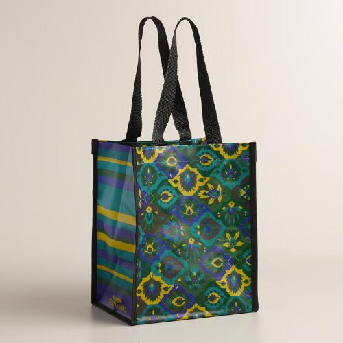 Cool Floral Tile Tote Bags, Set of 2