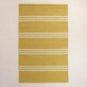 Lemon Yellow Hooked Area Rug