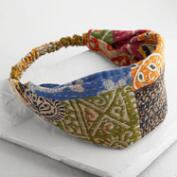 Wide Kantha Patchwork Yoga Headband