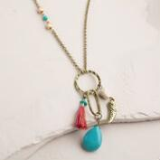 Gold Horn Charm Necklace
