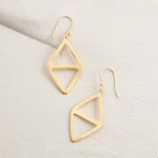 Gold Geometric Modern Drop Earrings