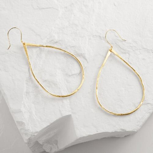 Gold Large Teardrop Earrings