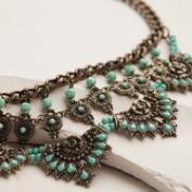 Antique Gold Statement Necklace