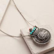 Silver Potion-Style Pendant Necklace