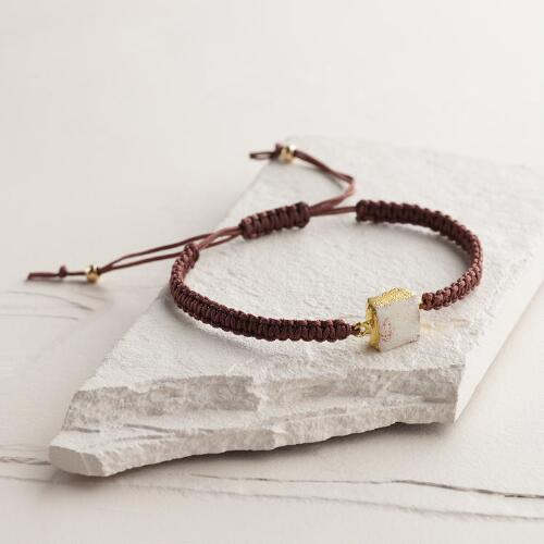 Gold Druzy Friendship Bracelet